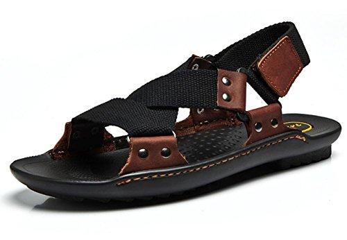 2017 nuovi uomini di estate sandali di cuoio casuali sandali dei pistoni traspiranti 2