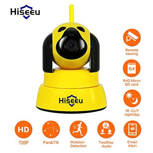 LLC - Hiseeu Home 720P 1.0MP IP-Kamera, drahtlose Überwachungskamera Pan Tilt Zoom WiFi Dome-Kamera mit Nachtsicht, Zwei-Wege-Audio, Remote-Monitor für Baby Elder Pet Nanny