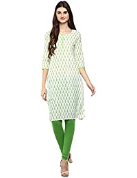 Rama Women's Printed Cotton Straight Kurta With Legging Set