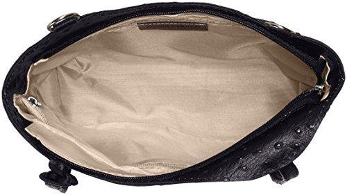 Ctm Tracolla Donna Spalla In Pelle Da Donna, 28x30x9cm, 100% Vera Pelle Made In Italy Nero (nero)