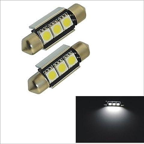 LIROOT12V 2PCS SMD 5050-3-36MM festone auto luce
