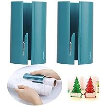 Rouleau de papier cadeau Cutter massicot Rogneuse rotative, cutters outils de coupe de lame de couteau d'art de remplacement pour maquettes papier Fête de Noël Anyback Vert Lot de 2