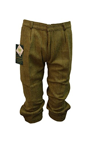 Walker and Hawkes Herren Kniebundhose aus Tweed - für die Jagd geeignet - Helles Salbeigrün - Größen 30