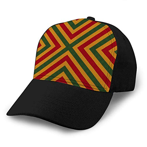 Baseball Caps Trucker Caps Bones Hip Hop Hats for Men Women Reggae Colors Crochet Knitted Style top View Collage Mirror Reflection Rhombus Seamless Kaleidoscope Monta -