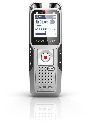 italer Rekorder mit Auto Adjust 2 Mikrofon-Stereoaufnahme, schwarz (Index-karte Speicher)