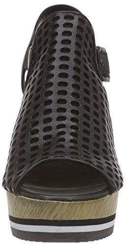 Bruno Premi F4303x, Sandales ouvertes à talon compensé femme Noir - Noir