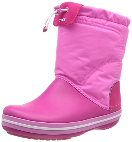 Crocs Kids' Crocband LodgePoint Boot Snow, Pink (Candy/Party Pink), 4 UK