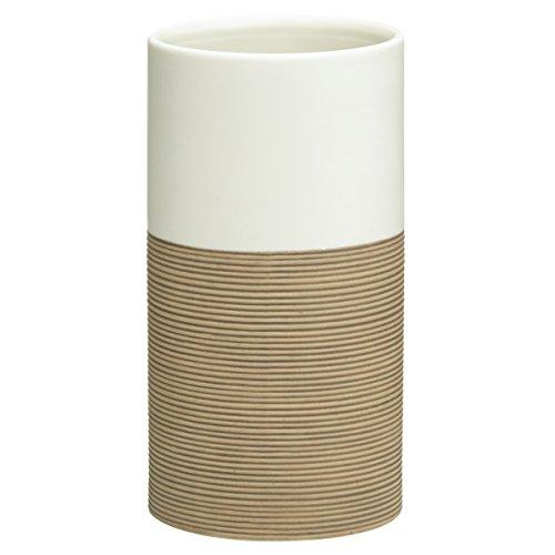 Sealskin 361840465 Becher Doppio Badaccessoire, Porzellan, sand, 6,7 x 6,7 x 12,6 cm