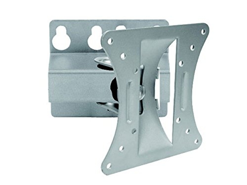 Monoprice Full-Motion Articulating TV Wall Mount Bracket for TVs 13in to 27in Max Weight 66lbs VESA Patterns Up to 100x100 Works with Concrete & Brick