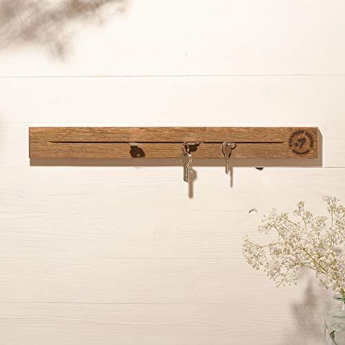 Barefoot Living Schlüsselbrett Holz Vintage mit Leiste zum Ablegen von Schlüsseln, Briefen, Karten und Brillen