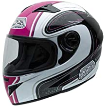 NZI 150196G632 Must Casco de Moto, Color Blanco, Negro y Rosa, Talla 54