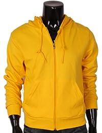 BCPOLO - Sweat-shirt à capuche -  - Uni - Manches longues Homme Jaune Jaune