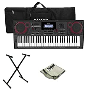 Casio CT-X9000IN 61-Key Portable Keyboard with Gig Bag,Stand and Polishing Cloth