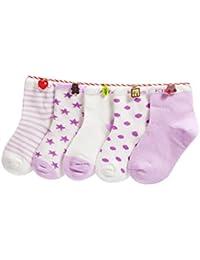 Cinq Paires Chaussettes Bébé Enfant 0-10 Ans Garçon Fille Adolescents Coton Pur Doux Colorée