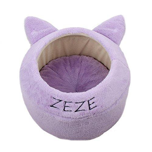 SL&ZX Plüsch Katze Kennel,Luxus Bett Tiere nisten Warme Winter Baumwolle Nest katzenstreu Haustiere hundebox-C 40x40x27cm(16x16x11inch)