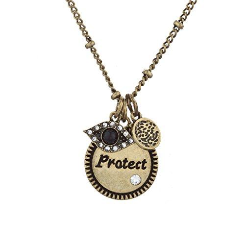 LUX Zubehör Boho Burnish Gold Schützen Gravur Inspirierende Charme Halskette (Tiffany Toggle Herz Halskette)