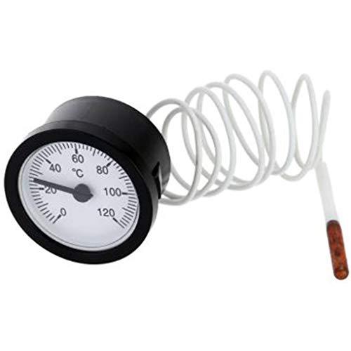 Level Great 52mm Dial Thermometer Kapillar-Temperaturanzeige mit 1,5m Sensor 0-120 Grad Celsius für Mess Wasser flüssig Temperatur -, Mess-sensoren