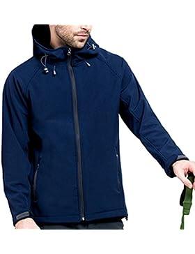 Zhhlinyuan Hot Mens Al aire libre Winter Warm Windproof Coat Soft Shell Hooded Jacket Clothing
