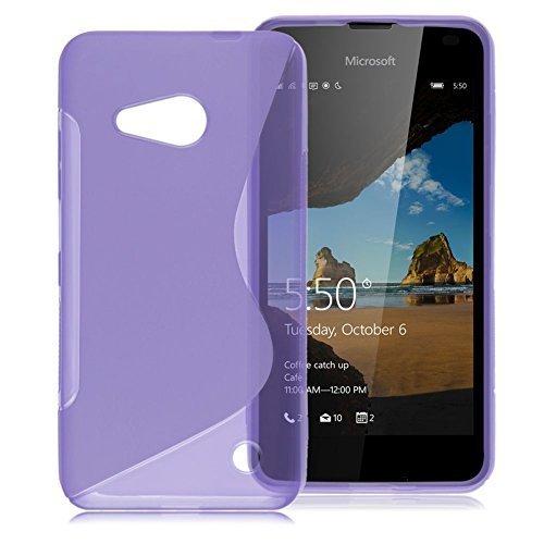 Connect Zone Microsoft Lumia 650 TPU S Line Housse Étui Silicone Gel Avec Protection D'écran Et Lingette De Polissage - Violet S Line Gel, Microsoft Lumia 650