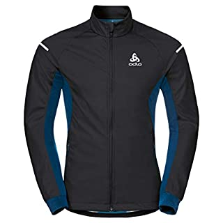 Odlo Herren Jacket Aeolus WARM Jacke Black-Poseidon, XL