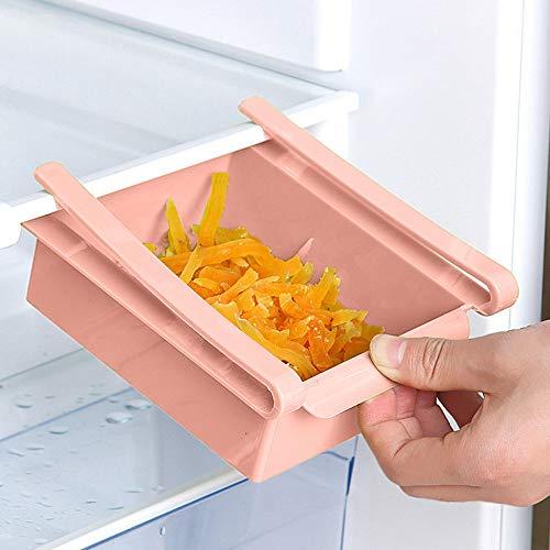 Kühlschrank Ablagekorb Hängekorb Rutschen Unter Regalen Draht Ablagekorb für Küchen Pantry Schreibtisch Bücherregal 6,4x6,1x2,2 Zoll -