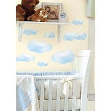 Jomoval Room Mates, Adesivi da parete per cameretta bambini, motivo: Nuvole