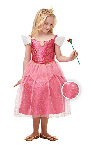 Rubie's Offizielles Disney Prinzessin Aurora Schlafende Schönheit Glitzer und Glitzer, Mädchen Kostüm