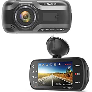 Kenwood DRV-A501W Wide Quad HD Dash Cam with 3 Axis G-Sensor, GPS and WiFi + 16GB Micro SD Card