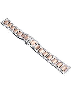 14mm Herren Damen Rosegold Silber Stahl Edelstahl Quarz Wrist Uhren-Armband Uhrenarmbänder Uhrband Watch Band...