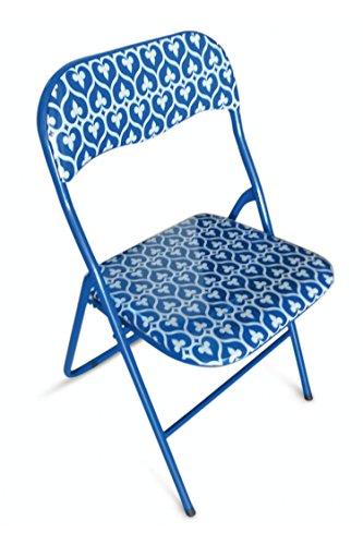Galileo casa mandala silla plegable, silla de PVC, azul
