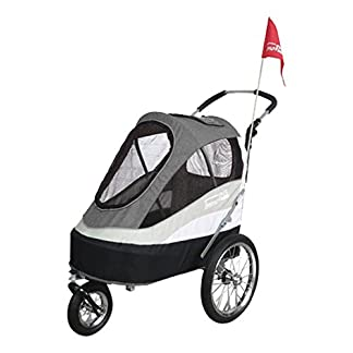 Innopet Pet Stoller,IPS-055/AT, Free Rain and Wind cover, dog carrier, trolley, Trailer, Sporty. Pet buggy, pushchair, pram for dogs and cats 41PN n 2Bs7L