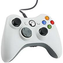 Controller Wireless Xbox 360, NICEAO Controller Gamepad con Cavo USB, Game Joystick Joypad con Doppia Vibrazione per PC Windows