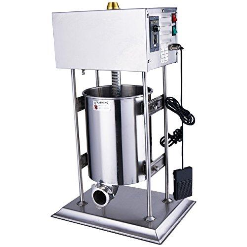 Wurstfüller Edelstahl Wurtspresse Wurtsfüllmaschine 10 Liter elektrisch