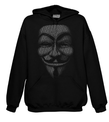 Geek Hacker - Anonymous Slogan Mask 701476 Hood