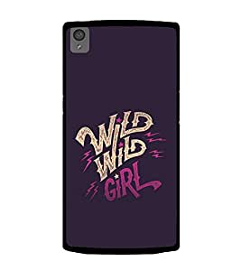 Printtech Designer Wild girl Case Back Cover for OnePlus X