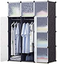 12 Storage Cube Organizer Wardrobe Modular Closet Plastic Cabinet, Cubby Shelving Storage Drawer Unit, DIY Modular Bookcase