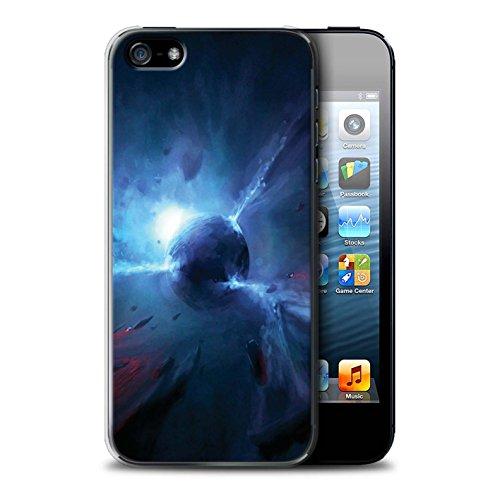 Offiziell Chris Cold Hülle / Case für Apple iPhone 5/5S / Pack 6pcs Muster / Galaktische Welt Kollektion Pulsar/Neutron Stern