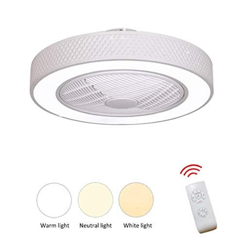 YEXIN Ventilador LED Luces de techo, Ventilador de montaje empotrado interior ajustable...