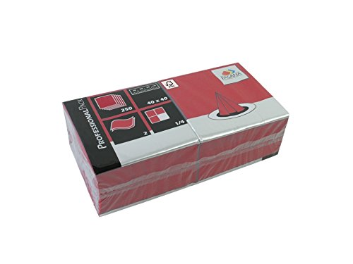 Servietten Fasana 250 Stück | 2-lagige Papierservietten in bordeaux bordo | Serviette 1/4-Falz Größe: 40x40 cm, Dekoserviette, Prägeservietten für Serviettenhalter & Spender