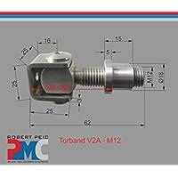Pmc Acero Inoxidable V2A accionamiento de puerta M12–Puerta Puerta Bisagra M12x 1,5