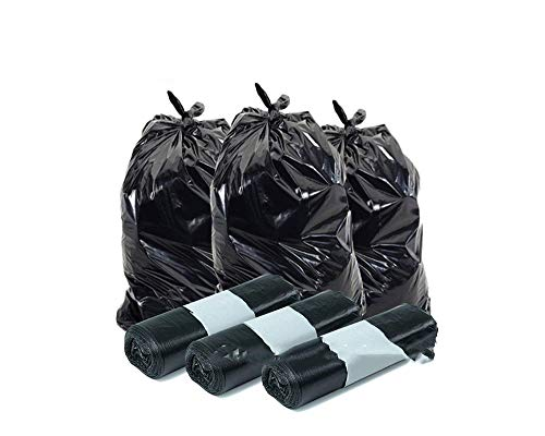 Palucart® Sacchi spazzatura colore NERO cm 70x110 (110 litri) 100 pezzi