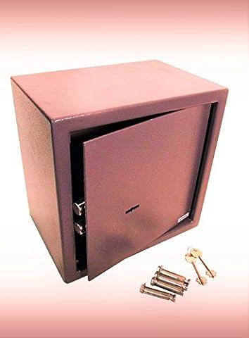 Aurasecure® Coffre-fort haute sécurité en acier robuste Blocage mécanique Porte anti-pied-de-biche Verrouillage à 7leviers Norme britannique BS7558/92 26Litres 30 x 38 x 30cm Noir Convient aussi en tant que coffre-fort de van