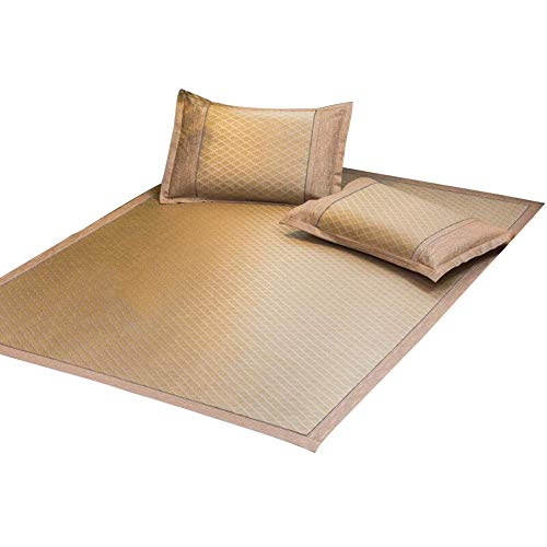 ZHAOHUI-Estera de dormir verano Almohadilla para Colchón Estera De Bambú Respirable Estera De Paja De Un Solo Lado, 4 Estilos, 2 Tallas (Color : B-1.2x2.0m)