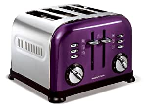 Morphy Richards 44737 Toaster Purple Accents 4 Tranches