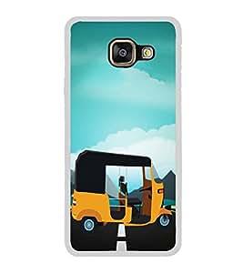 PrintVisa Auto Rickshaw Taxi High Glossy Metal Designer Back Case Cover for Samsung Galaxy A3 2016 :: Samsung Galaxy A3 2016 Duos :: Samsung Galaxy A3 2016 A310F A310M A310Y :: Samsung Galaxy A3 A310 2016 Edition