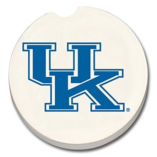 Kentucky Wildcats Absorbent Stone Car Coaster - Set of 2 by CounterArt -