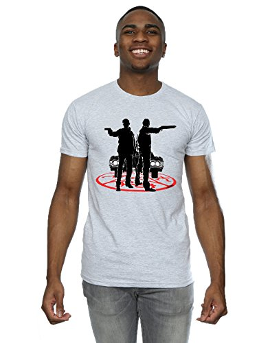 super.natural Supernatural Herren Sam and Dean Silhouette T-Shirt Sport Grey