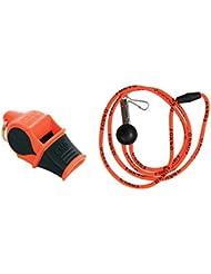Fox 40Sonik Blast CMG con cordón–Multi Color, Naranja/Negro