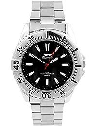 Slazenger hombre-reloj analógico de cuarzo de acero inoxidable SLZ107C