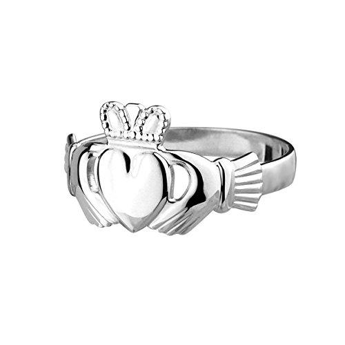 Claddagh Ring. Irischer Freundschaftsring. Sterling Silber Größe 54 (Irische Claddagh Ringe)